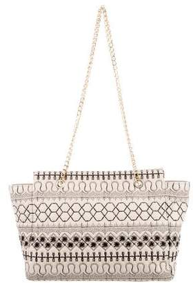 RED Valentino Leather Embroidered Tote