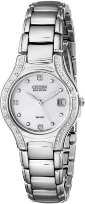 Citizen Women's EW0970-51B Silhouette Diamond Eco Drive Watch