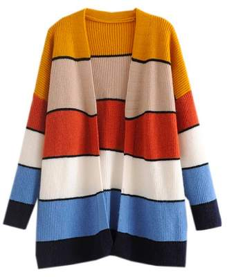 Goodnight Macaroon 'Aggie' Color Block Cardigan (2 Colors)