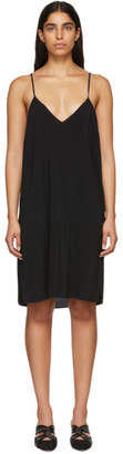Raquel Allegra Black Simple Slip Dress