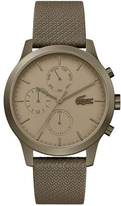 Lacoste 12.12 Premium Chronograph Leather Strap Watch, 42mm