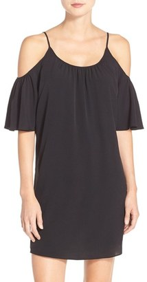 Women's French Connection 'Polly' Cold Shoulder Shift Dress $98 thestylecure.com