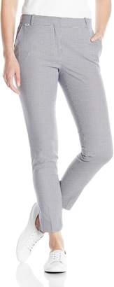Lacoste Women's Mini Gingham Slim Fit Pant