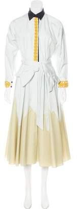 Vika Gazinskaya 2016 Belted Shirtdress