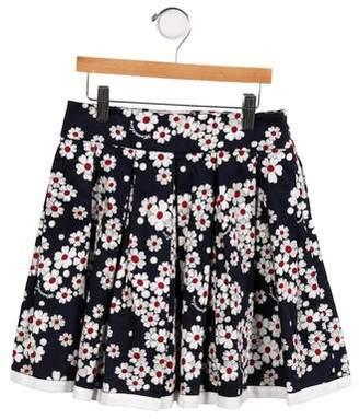 MonnaLisa Girls' Floral A-Line Skirt