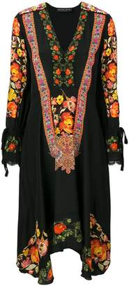 Etro floral embroidered bohemian dress