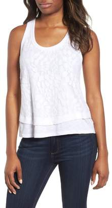 Gibson Racerback Lace Front Tank