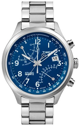 Men's Timex 'Intelligent Quartz' Fly-Back Chronograph Watch, 43Mm $140 thestylecure.com