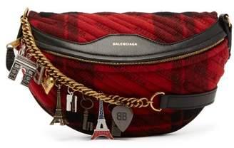 Balenciaga Souvenir Xs Belt Bag - Womens - Black Red