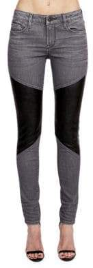 Cult of Individuality Moto Mid-Rise Skinny-Fit Jeans