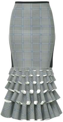 Dion Lee check pattern deconstructed skirt
