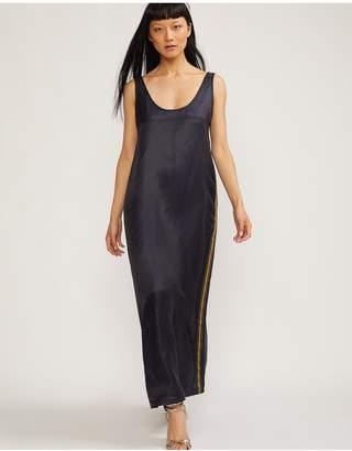 Cynthia Rowley Tulum Silk Maxi Dress With Ribbon Trim