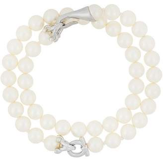 Salvatore Ferragamo double pearl bracelet