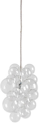 The Light Factory Waterfall Bubble Chandelier - Clear/White