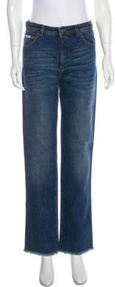 ALEXACHUNG Raw Hem High-Rise Jeans w/ Tags