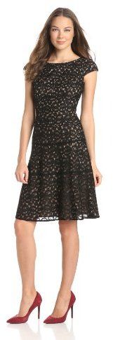 Anne Klein Women's Ribbon Lace Swing Dress