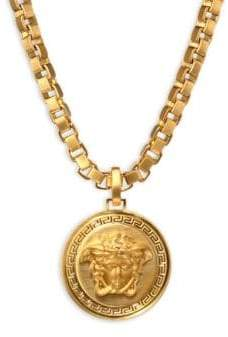 Mens gold chain pendants shopstyle versace large chain pendant necklace aloadofball Choice Image