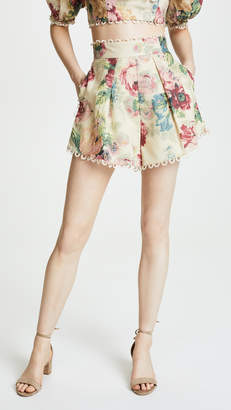Zimmermann Melody High Waist Shorts