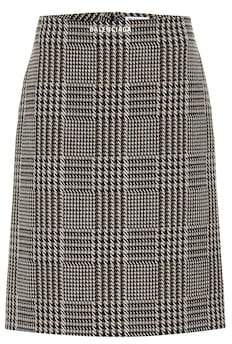 Balenciaga Checked wool-blend miniskirt