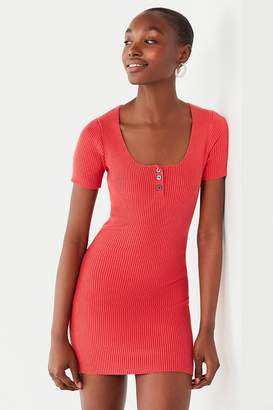 Urban Outfitters Lily Button-Down Bodycon Mini Dress