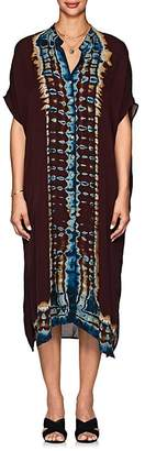 Raquel Allegra Women's Tie-Dyed Silk Caftan Dress