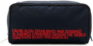 Calvin Klein embroidered wash bag