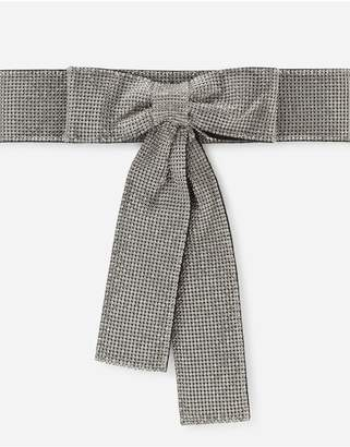 Dolce & Gabbana Crystal Mesh Belt With Bow