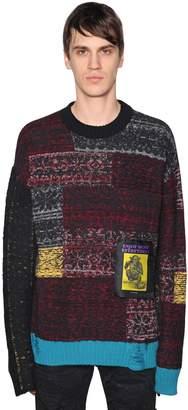 Diesel Patchwork Wool Blend Knit Sweater