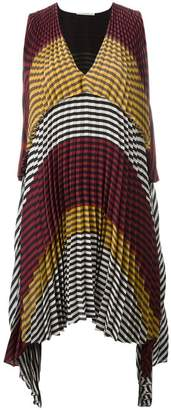 Marco De Vincenzo checked pleated dress