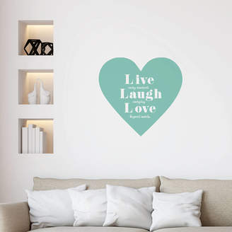 leonora hammond Live Laugh Love Wall Sticker