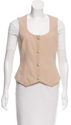 Versace Wool & Silk-Blend Scoop Neck Vest
