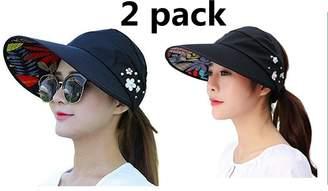 Jiuhexu Visor Hats Wide Brim Cap UV Protection Summer Sun Hats for Women