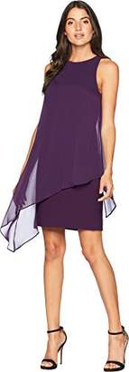 Tahari by Arthur S. Levine Women's Sleeveless Chiffon Overlay Dress with Relaxed FIT