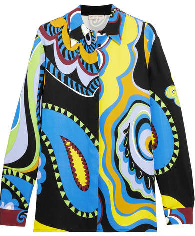 Emilio Pucci - Paisley-print Cady Shirt - Yellow