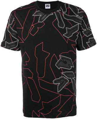 Les Hommes Urban abstract graphic print T-shirt