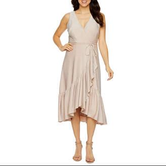 J Taylor Sleeveless Fit & Flare Dress