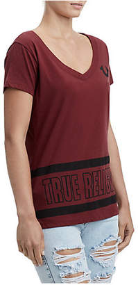 True Religion STRIPE BIG BUDDHA TEE