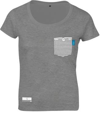ANCHOR & CREW - Athletic Grey Marker Print Organic Cotton T-Shirt (Womens)