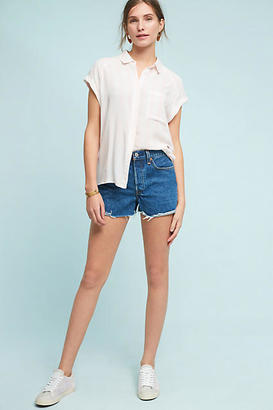 Levi's Wedgie Ultra High-Rise Selvedge Shorts $98 thestylecure.com