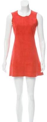 Balenciaga Suede Mini Dress
