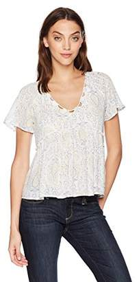 Lucky Brand Women's Flutter Sleeve TOP
