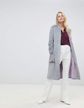 Helene Berman Suki faux fur collarless coat