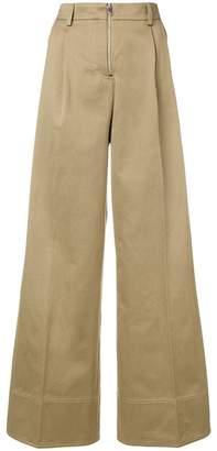 MRZ high-waisted wide leg trousers