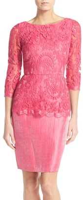 Women's Adrianna Papell Floral Embroidered Peplum Sheath $160 thestylecure.com