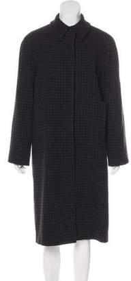 Calvin Klein Collection Gingham Long Coat