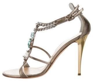 Giuseppe Zanotti Jewel-Embellished Ankle Strap Sandals