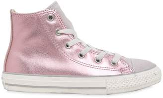 Converse Metallic Leather & Suede Sneakers