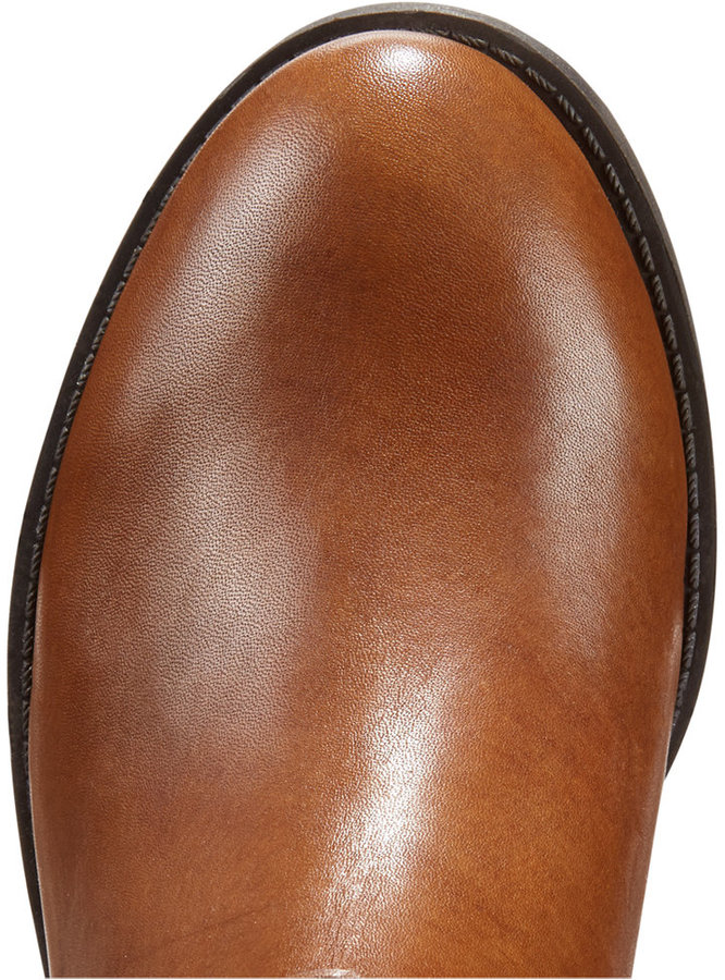 INC International Concepts Fahnee Leather Wide Calf Riding Boots