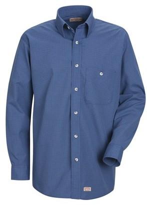 Red Kap Men's Long Sleeve Mini-Plaid Uniform Shirt