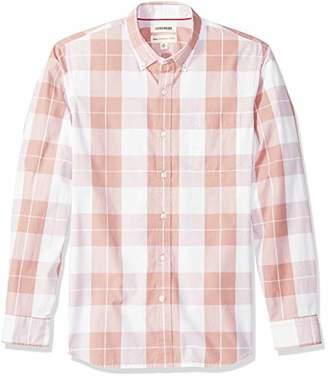 Goodthreads Men's Standard-Fit Long-Sleeve Plaid Poplin Shirt with Button-Down Collar